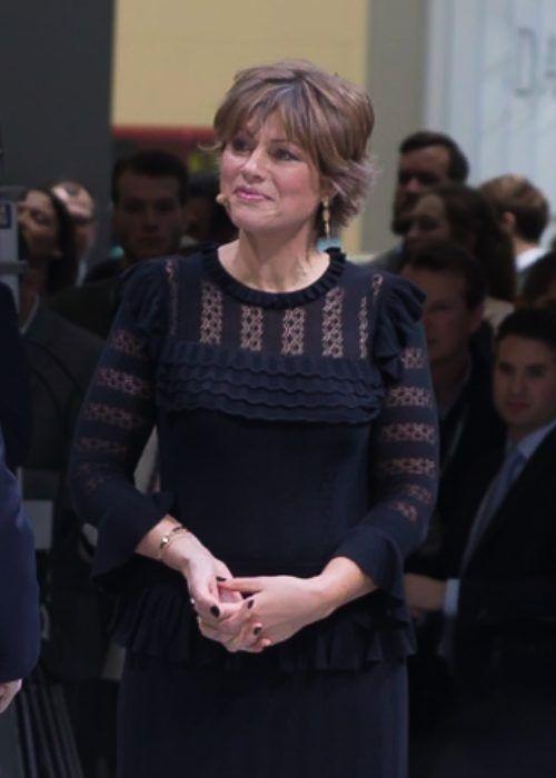 Kate Silverton as seen at the Geneva International Motor Show in 2018