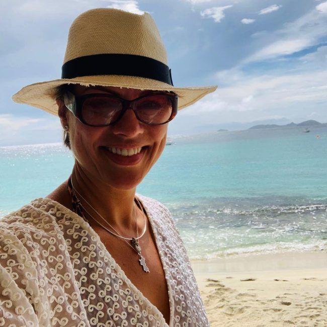 Kate Silverton as seen taking a selfie in August 2019