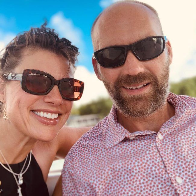 Kate Silverton as seen with her husband in 2019
