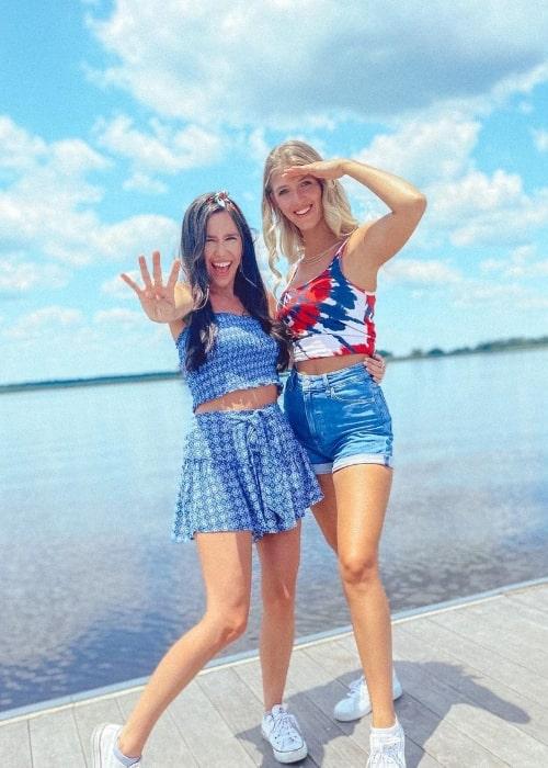 Lexi DiBenedetto (Right) and Savannah Lathem in Wilmington, North Carolina in July 2021