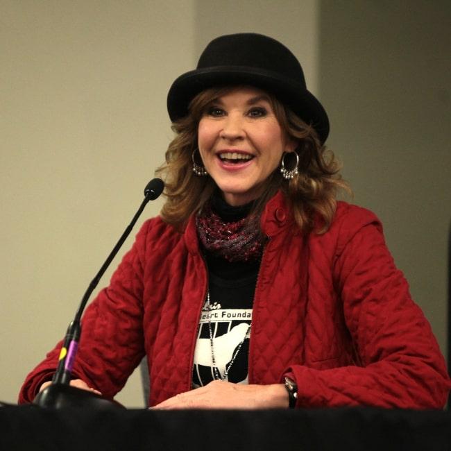 Linda Blair speaking at the 2014 Phoenix Comic Con Fan Fest on December 14, 2014