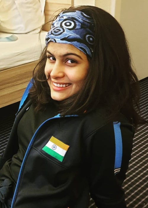 Manu Bhaker as seen in an Instagram Post in August 2019