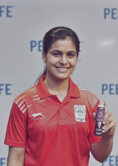 Manu Bhaker as seen in an Instagram Post in May 2018