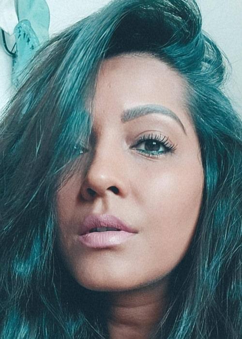 Meghna Naidu as seen in a selfie that was taken in Dubai, United Arab Emirates in June 2021