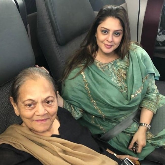 Nagma as seen in a picture with her mother that was taken in May 2021
