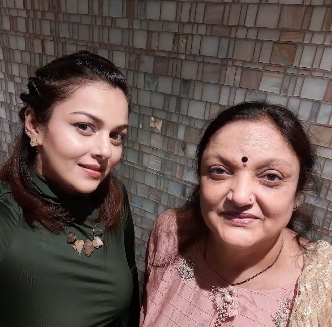Nehalaxmi Iyer and her mother in an Instagram post in May 2021