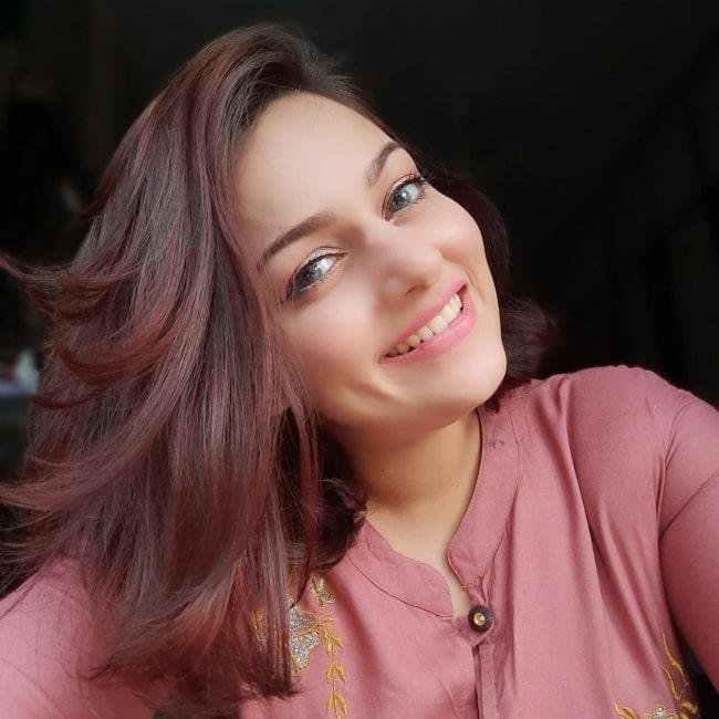 Nehalaxmi Iyer smiling in a picture in Mumbai, Maharashtra in June 2021