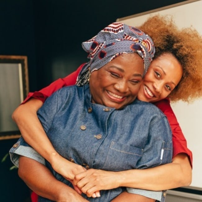 Nika King and her mother Sharon Allen in May 2021
