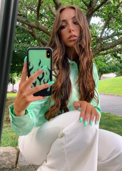 Olivia Alboher as seen in a selfie that was taken in August 2020