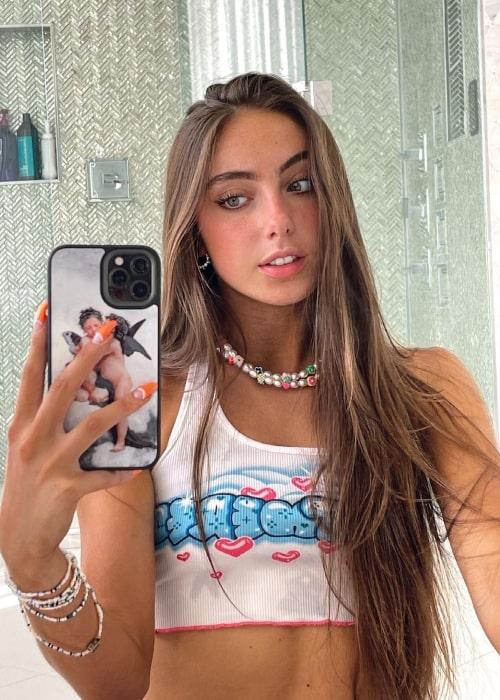 Olivia Alboher as seen in a selfie that was taken in June 2021