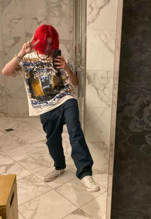 Omer Fedi as seen while taking a mirror selfie in Las Vegas, Nevada in April 2021