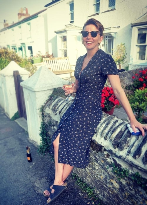 Ophelia Lovibond as seen in a picture that was taken at Cornwall in July 2021