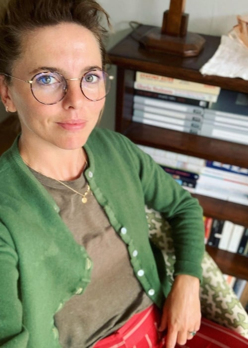 Ophelia Lovibond as seen in a selfie that was taken in July 2021