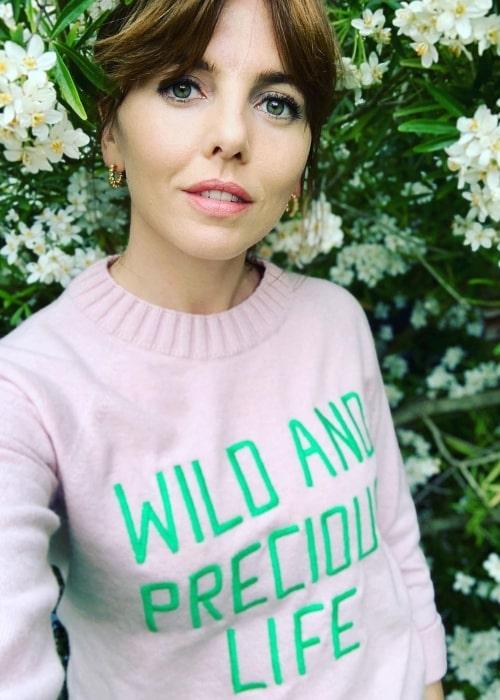 Ophelia Lovibond as seen in a selfie that was taken in London, Unιted Kingdom in May 2021