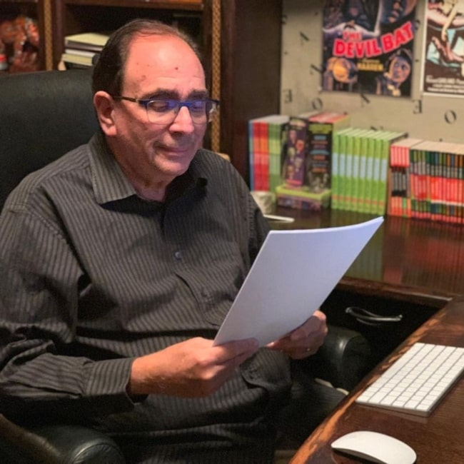 R. L. Stine as seen in a picture that was taken in October 2020