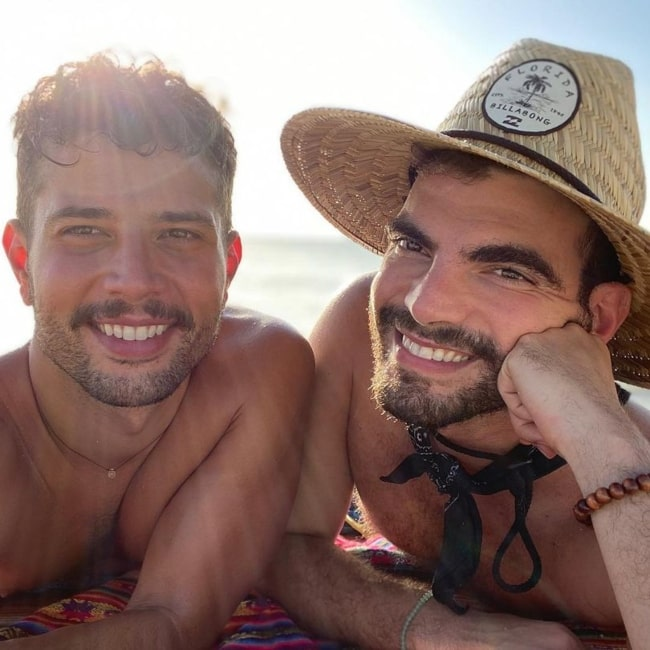 Rafael de la Fuente and his partner Pablo Costanzo in a selfie that was taken in October 2020