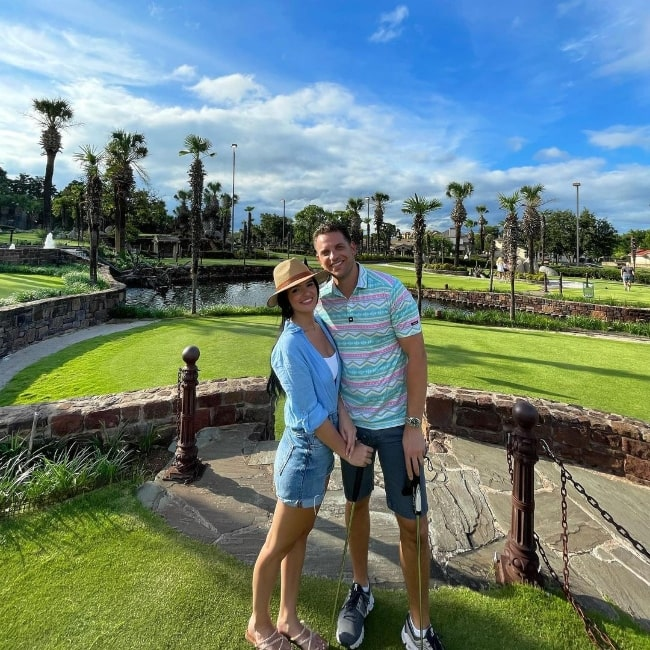 Raven Gates and Adam Gottschalk at Horseshoe Bay Resort in July 2021