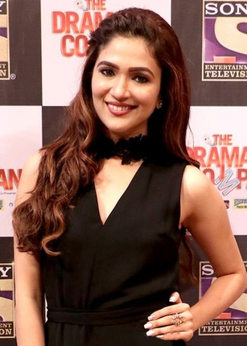 Ridhima Pandit pictured while attending the press conference of the show 'The Drama Company'