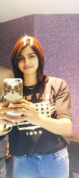 Sai Dhanshika in May 2017 happy to have got a new haircut