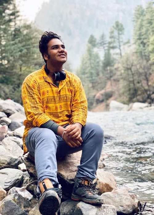 Samay Shah as seen while enjoying his time in Manali, Himachal Pradesh in January 2020