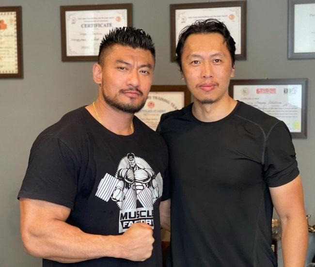 Sangay Tsheltrim (Left) and Jamyang Jamtsho Wangchuk as seen in an Instagram post in August 2021