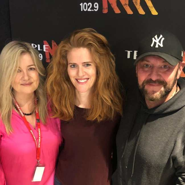 Sarah (center) seen with Tanya Wilks and Steve G