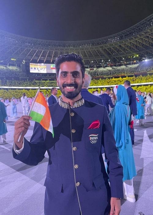 Sathiyan Gnanasekaran as seen in an Instagram Post in July 2021