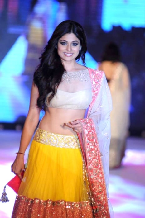 Shamita Shetty as seen while walking for Manish Malhotra & Shaina NC's show for CPAA