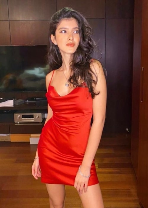 Shanaya Kapoor as seen in a picture that was taken in February 2021