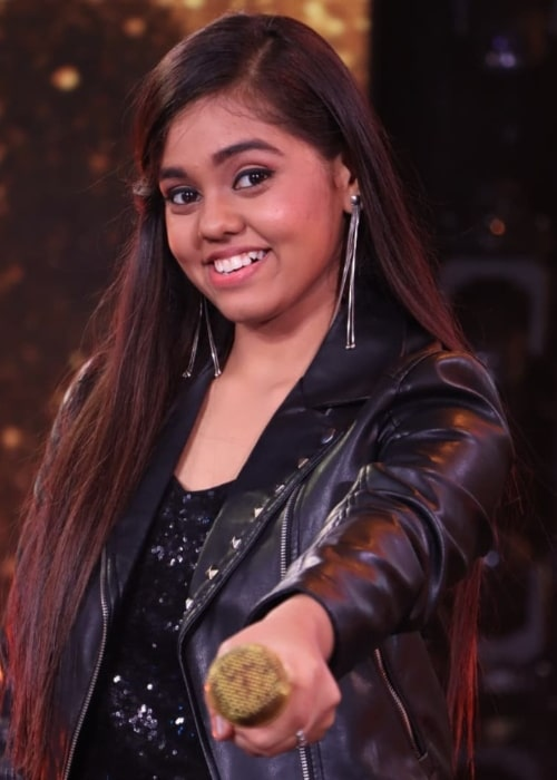 Shanmukha Priya as seen in a picture that was taken on the set of Indian Idol in July 2021