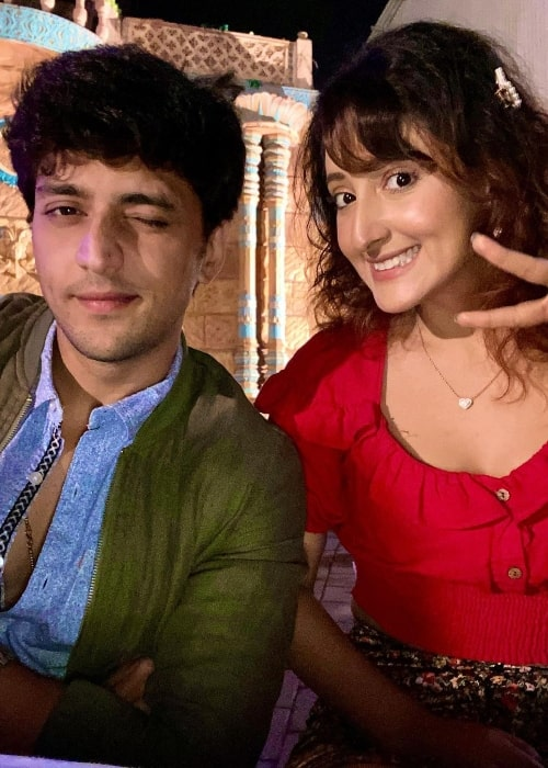 Shivya Pathania smiling in a picture with Kinshuk Vaidya
