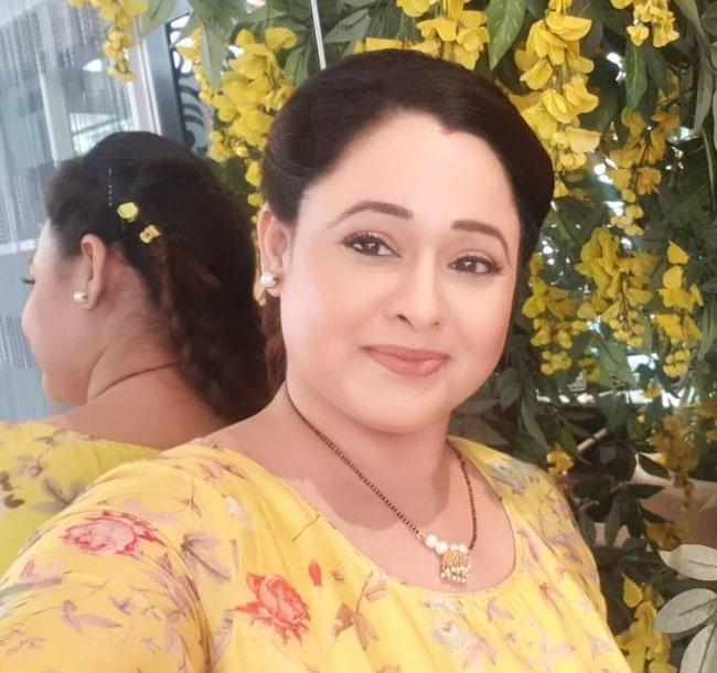 Sonalika Joshi as seen while taking a selfie in July 2021