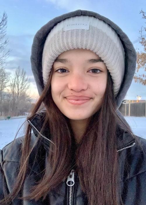 Sophia Hammons as seen in a selfie that was taken in February 2021