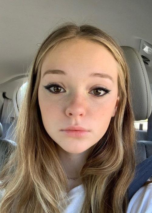 Sophie Grace as seen in a selfie that was taken in December 2020