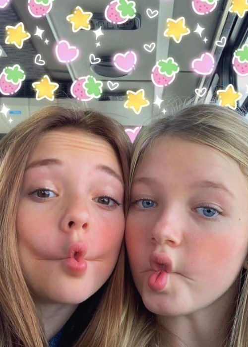 Sophie Grace as seen in a selfie that was taken with actress Shay Rudolph in September 2020