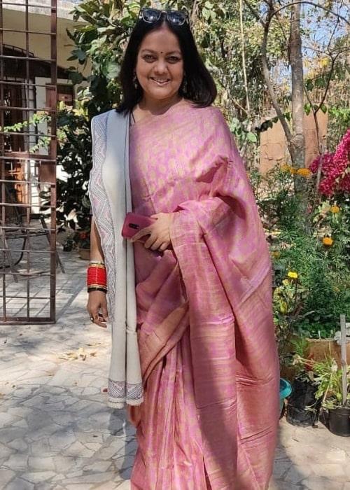 Sushmita Mukherjee as seen in a picture that was taken in February 2021