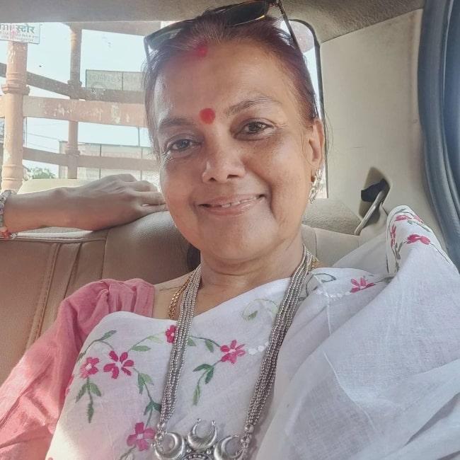 Sushmita Mukherjee as seen in a selfie that was taken in October 2020