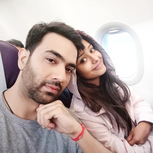 Tina Ann Philip as seen in a selfie that was taken with her husband Nikhil Sharma in September 2020