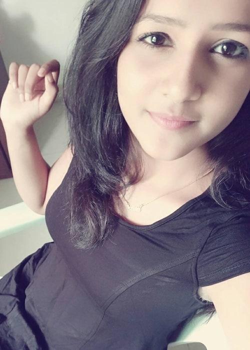 Vaishnavi Chaitanya as seen in a selfie that was taken in June 2017