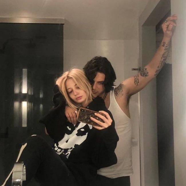 Vanessa Dubasso as seen in a selfie that was taken with her beau Samuel Larsen in September 2019