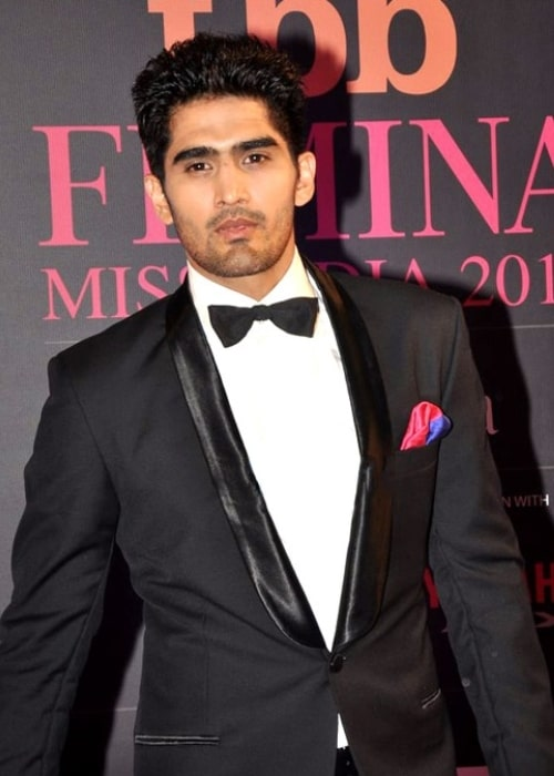 Vijender Singh at the Femina Miss India 2014