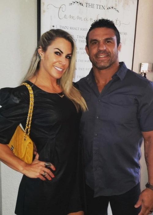 Vitor Belfort and Joana Prado, as seen in June 2021