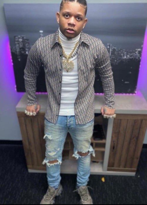 Yella Beezy as seen in a picture that was taken in April 2021