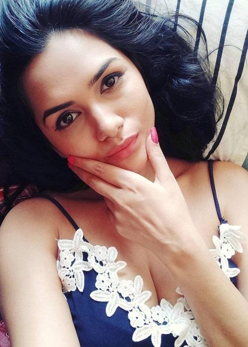 Akanksha Chamola as seen in a selfie that was taken in March 2020