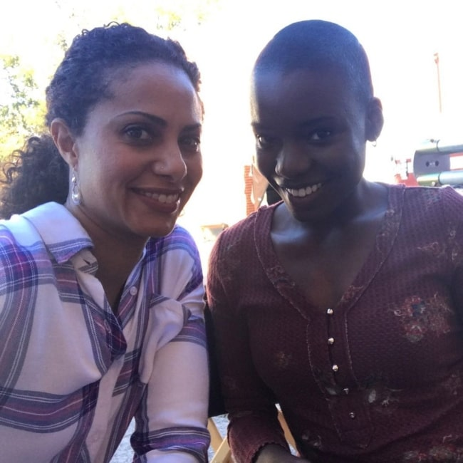 Alexis Louder as seen in a picture that was taken with actress Christina Moses in March 2020