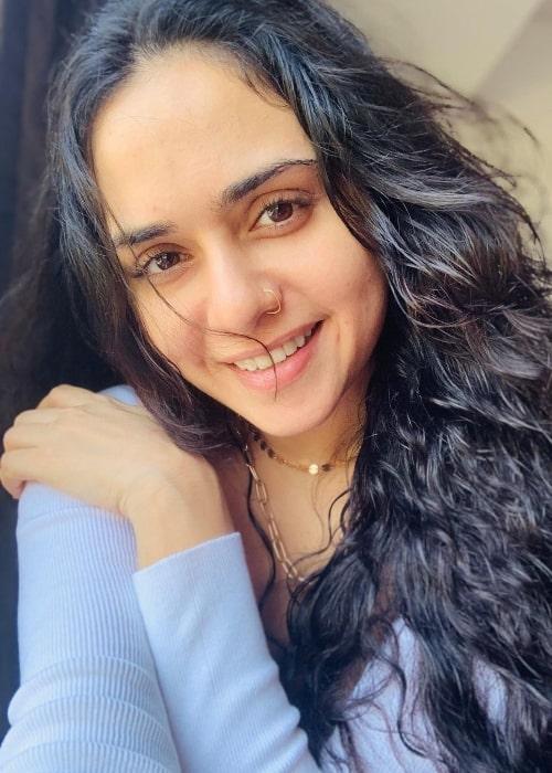 Amruta Khanvilkar as seen in March 2021