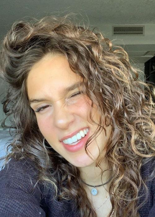 Ana Sobonja as seen in a selfie that was taken in March 2021