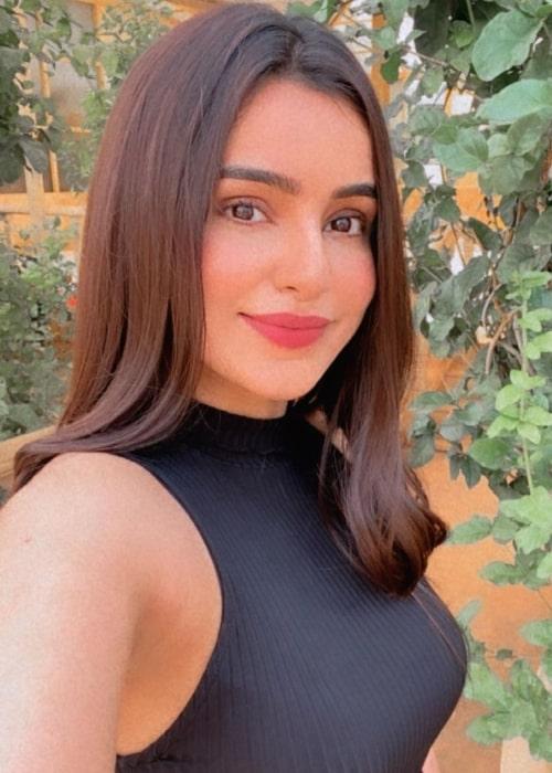 Ankitta Sharma taking a selfie in August 2021