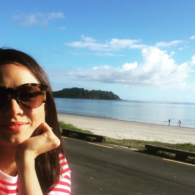 Anna Jullienne enjoying her time in Waiheke Island in New Zealand in May 2017