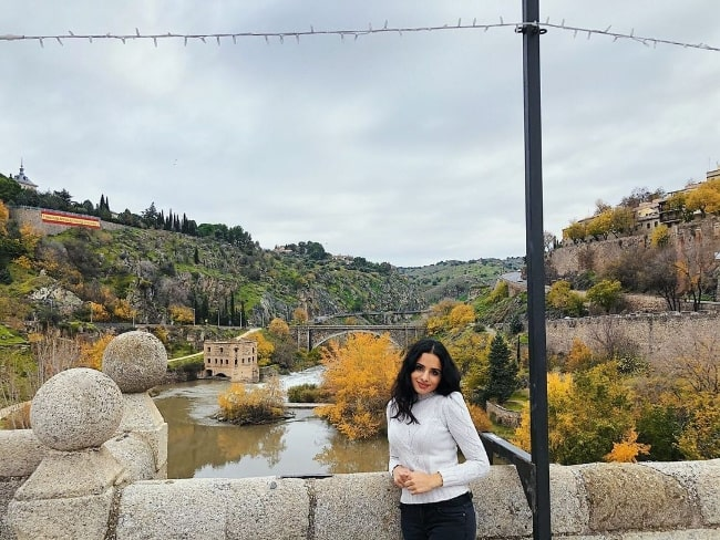Aparna Brielle as seen while posing for a beautiful picture in Toledo, Spain in 2019